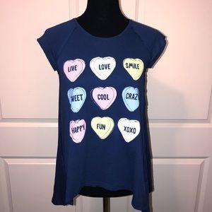 H&M Candy Hearts Graphic Tee